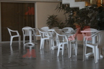 Пластмасова бяла маса за заведение