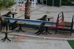 Пластмасова маса за плаж за кафене