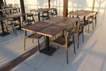 Стилна база за бар маса за заведение