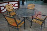 Прахово боядисана основа за бар маса