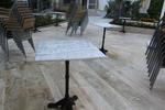 Различни височини основи за маси за външно ползване