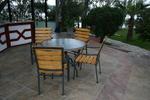 Прахово боядисана база за бар маса