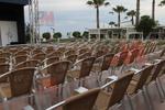 Устойчиви столове от алуминий за заведение