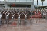 стол от алуминии за кафене