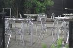 Маса от алуминий за ресторант