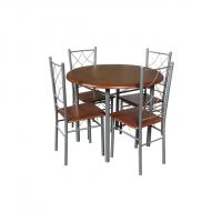 Комплект маса с 4 стола 20004 - орех