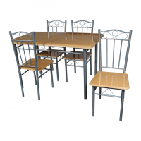 Комплект маса с 4 стола 20002-1 - бук