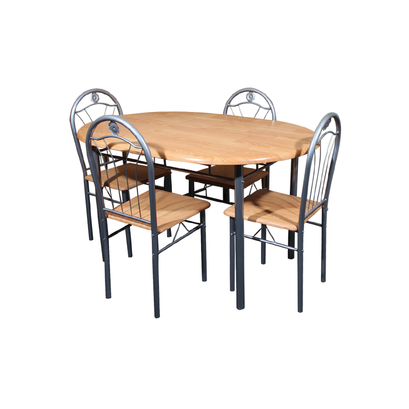 Мебели за дома - Комплект маса с 4 стола 20005 - бук