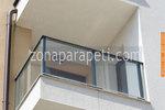 изработка на парапети за тераси от инокс и стъкло