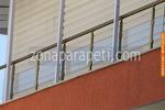 изработка на парапет за балкон от стъкло и неръждавейка