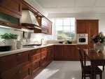 интериори за кухни фурнир в тъмни цветове по индивидуален проект