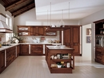 кухни фурнир в тъмни цветове по проект