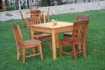 луксозна маса със столове от масивна дървесина по поръчка
