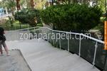 парапети за стълби от алуминии и стъкло