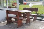 Дървени маси с пейки за заведения по поръчка