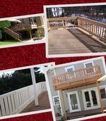 балконски дървени парапети с пана от чам по поръчка