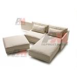 качествена  ъглова мека мебел с ракла