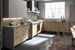 луксозни  ъглови кухни масив бук с плавни механизми