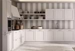 луксозни ъглови бели кухни масив дълготрайни