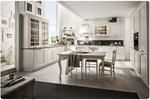 живописни  ъглови бели кухни масив механизми Блум