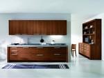 нечупливи кафяви кухни масив дизайнерски