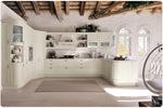 стабилни бежови кухни масив с бар луксозни