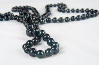 Естествени черни перли дълго колие