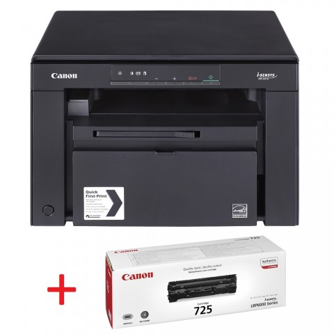 Черно-бяло лазерно МФУ Canon i-SENSYS MF3010 + Canon CRG-725