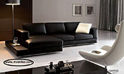 Кожен ъглов диван по поръчка 543