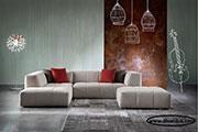 Ъглов диван с табуретка по поръчка 544