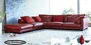 Червен диван с мемори пяна по поръчка 548