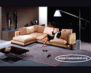 Луксозен ъглов диван с гъши пух