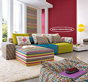 Ъглов цветен диван по поръчка 553
