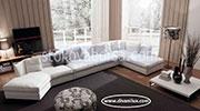 Бял диван с мемори пяна по поръчка 564
