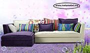 Цветен ъглов диван по поръчка 576