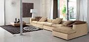 Кафяв диван с гъши пух по поръчка 584