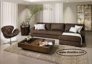Ъглов диван в кафяво по поръчка 596