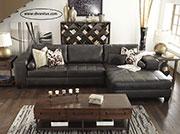 Луксозен кожен диван по поръчка 614