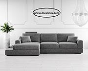 Сив ъглов диван с мемори пяна по поръчка 624