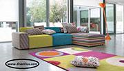 Цветен диван с мемори пяна по поръчка 637
