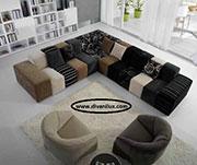 Цветен модулен диван с мемори пяна 639