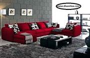 Луксозен диван в червено по поръчка 641