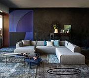 Ъглов диван с миеща се дамаска 653