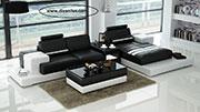 Луксозен кожен диван с мемори пяна по поръчка 661