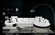 Бял кожен диван с италиански дунапрен 664