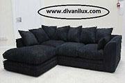 Ъглов диван в черно по поръчка 679