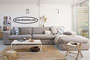 Ъглов диван с перяща се дамаска 686