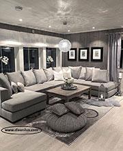 Голям диван с миеща се дамаска по поръчка 709