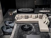 Луксозен ъглов диван с гъши пух по поръчка 710
