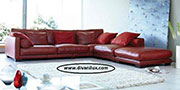 Кожен ъглов диван по поръчка 1101